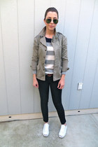 Gap jeans - Urban Outfitters jacket - Gap sweater - jack purcell sneakers
