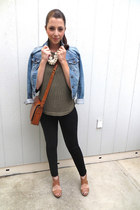 Urban Outfitters jacket - Gap jeans - Zara bag - Steve Madden wedges