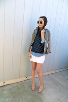 JCrew blouse - Urban Outfitters jacket - JCrew shirt - BCBG pumps