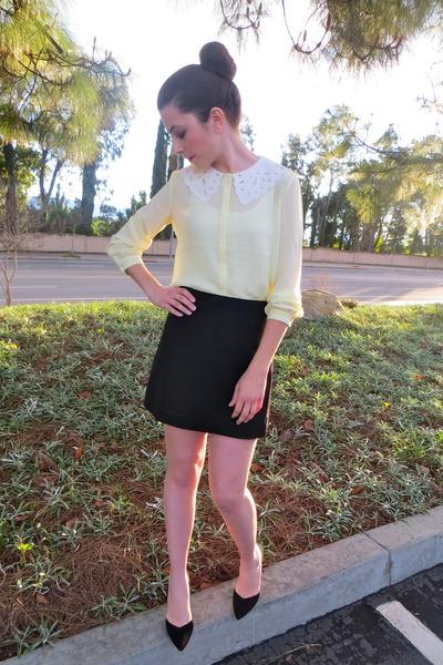 Forever 21 top - banana republic skirt - Zara heels