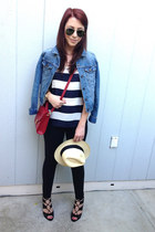 JCrew hat - Gap jeans - Urban Outfitters jacket - Forever 21 bag