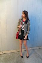 Forever 21 sweater - Urban Outfitters jacket - Forever 21 bag - Forever 21 skirt