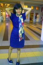 dress - scarf - shoes