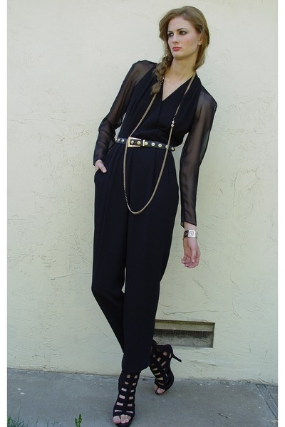 black MS CHAUS pants - black Forever 21 shoes