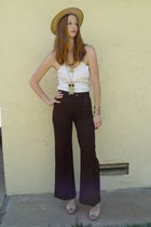 brown Lee pants - beige Steve Madden shoes - gold Forever 21 necklace