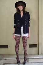 Vtg 80s Military NAUTICAL Striped Boyfreind Blazer