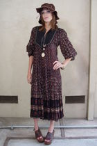 brown made in india dress