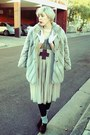 Beige-faux-fur-thrifted-vintage-coat-heather-gray-grey-rubi-socks