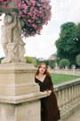 Maroon-lena-hoschek-dress-maroon-vivienne-westwood-bag