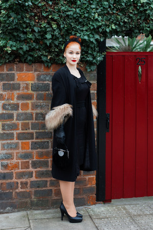 Vintage 1950s dress dress - TopShop Unique coat - hm heels