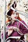 Maroon-vintage-from-beyond-retro-coat-maroon-joanna-violet-hat