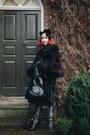 Black-vintage-lilli-ann-coat-black-personalised-kate-spade-bag
