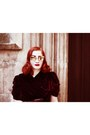 Velvet-vintage-dress-vivienne-westwood-bag-tom-ford-glasses