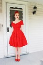Vintage-dress-charlotte-russe-heels