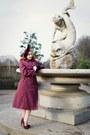 Maroon-vintage-from-beyond-retro-coat-maroon-joanna-violet-hat