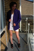blazer - American Apparel dress - Zara shoes