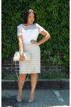 heather gray vintage skirt - heather gray Aldo shoes