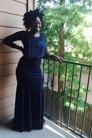 navy pinafora DIY dress