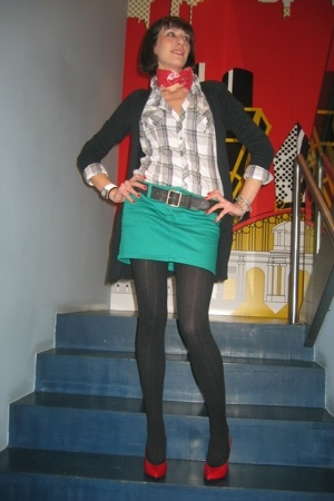 H&amp;M shirt - Zara blazer - H&amp;M skirt - Marc by Marc Jacobs shoes - ienna Miller b