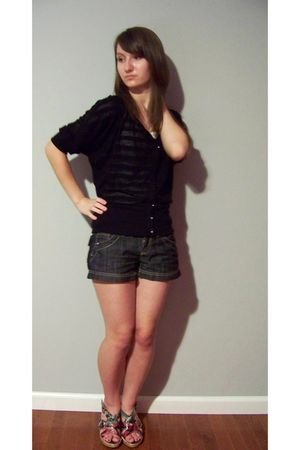 cardigan - shirt - shorts - shoes