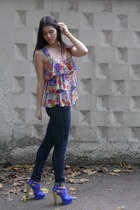 ann taylor shirt - H&M jeans - Steven Madden pumps