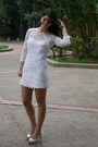 White-mango-dress-heather-gray-enzo-angiolini-pumps