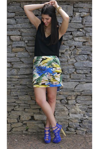 Melap skirt - Zara shirt - Steve Madden heels