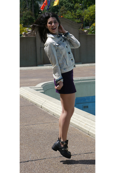 Zara skirt - Steve Madden boots - Zara jacket