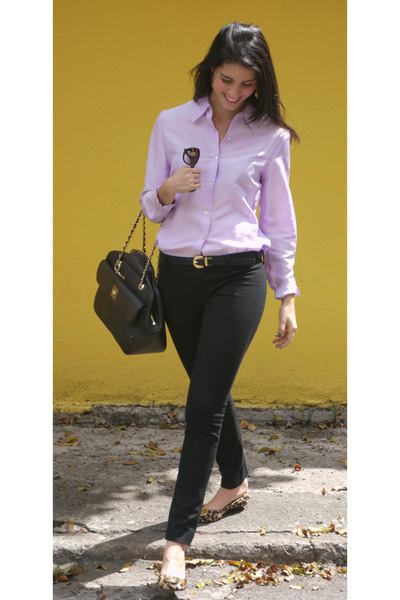black moschimo bag - mustard Audrey Brooke shoes - crimson Cartier sunglasses