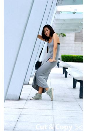 maxi dress H&M dress - patent H&M bag - DIY accessories - rings H&M accessories