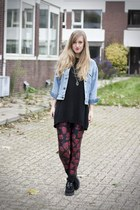 denim Levis jacket - zombie Black Milk leggings - creepers Underground flats