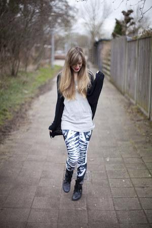 bone machine Black Milk Clothing leggings