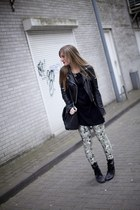 skeleton Black Milk leggings - duffle bag Ebay bag