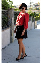 ruby red cynthia rowley top - black Nine West heels