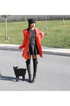 asos bag - Zara dress - Forever New coat - Zara hat
