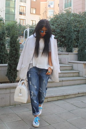 Zara coat - Gap jeans - Furla bag - rayban sunglasses - İpekyol blouse