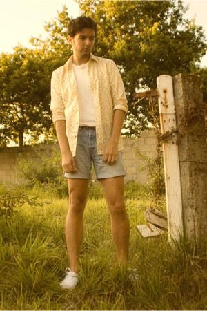 cotton BLANCO t-shirt - liberty print DIM shirt - denim Pepe Jeans shorts