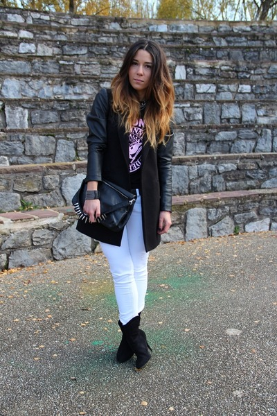 Mango boots - Zara bag - Los Ramones t-shirt
