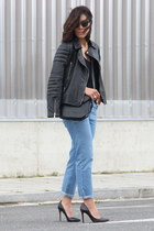 Zara jeans - Mango jacket - Skunkfunk bag