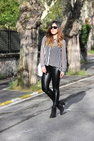 Topshop boots - Zara bag - Primark blouse