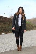 Zara boots - Stella Rittwagen bag - Etsy t-shirt - H&M belt