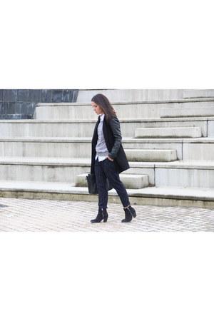 Topshop boots - Stradivarius coat - Mango pants
