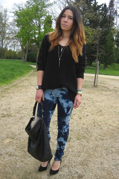 Stradivarius pants - DIY Blanco jeans - Parfois bag - asos heels