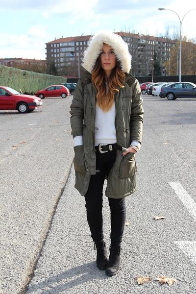 Topshop boots - H&M coat - Primark sweater