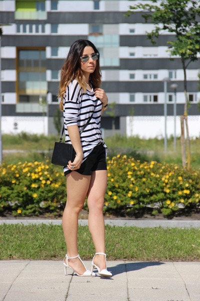 Zara shorts - Mango bag - Zara t-shirt