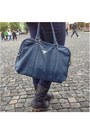 Black-oasis-cape-navy-boots-navy-scarf-navy-prada-bag-brown-vintage-belt