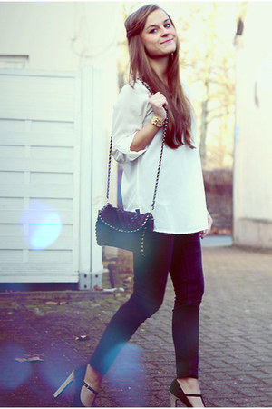 Mango bag - Guess watch - new look heels - Vero Moda blouse