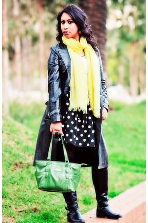 trench Lipsy coat - Diana Ferrari boots - Sportsgirl scarf - Dotti skirt