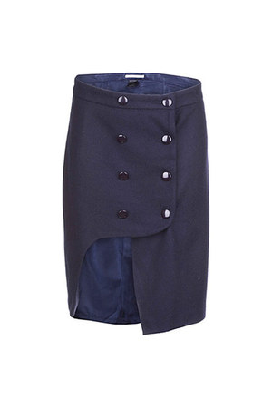 navy blue skirt romwe skirt
