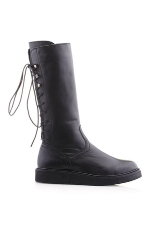 black boots romwe boots